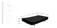 Richmond Sofa cum Bed in Black Colour by Furny