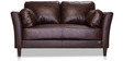 Richmond Two Seater Sofa in Chocolate Brown Colour by Durian