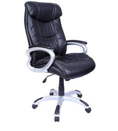 Rich & Famous High Back Executive Chair in Black Colour by Stellar