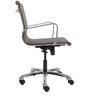 Ribbed Cushioned manager Chair in Black Colour by FabChair