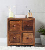 Richmond Bedside Table in Provincial Teak Finish by Woodsworth