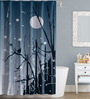 Right Abstract Design Grey Polyester Water Proof Shower Curtain
