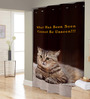 Right Brown Polyester Shower Curtain