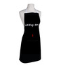 Right Carry On Print Black Polyester Free Size Apron