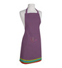 Right Purple Polyester Feather Free Size Apron