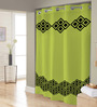 Right Green & Black Polyester Shower Curtain