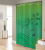Right Green Polyester Shower Curtain