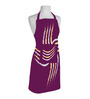 Right Lines Purple Polyester Free Size Apron