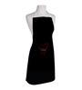 Right Love Print Black Polyester Free Size Apron