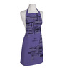 Right Purple Polyester Work Schedule Free Size Apron