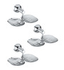 Rigma Double Matrix Metallic Stainless Steel Soap Dish - Set of 3