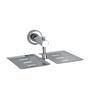 Rigma Viva Metallic Stainless Steel Double Soap Dish