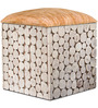 Riley Box Pouffe in Brown Colour by InLiving