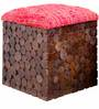 Riley Box Pouffe Warm Rich Finish by Inliving
