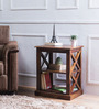Fife Solid Wood End Table in Provincial Teak Finish by Woodsworth