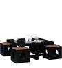 Lynden Sheesham Wood Coffee Table Set in Espresso Walnut Finish by Woodsworth
