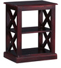 Fife End Table in Passion Mahogany Finish by Woodsworth