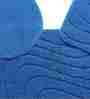 Riva Carpets Wave Micro Blue Cotton 82x48 INCH Bath Mat
