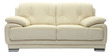 Rocco Leatherette Collection - Two Seater in Cream Coloure by Furny