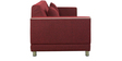 Rojo Three Seater Sofa in Maroon Colour by Furny