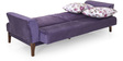 Romina Three Seater Sofa cum Bed in Purple Colour by @ Home