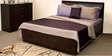 Rose King Bed with Storage in Brown Colour by Durian