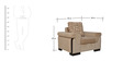 Royal Sofa Set (3 + 2 + 1) with 6 Cushions in Brown Colour by Crystal Furnitech