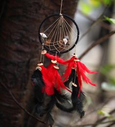 Rooh Dream Catchers Red & Black Wool Dream Catcher
