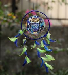 Rooh Dream Catchers Multicolour Wool Owl Dream Catcher