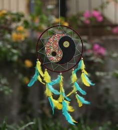 Rooh Dream Catchers Multicolour Wool Yin Yang Dream Catcher