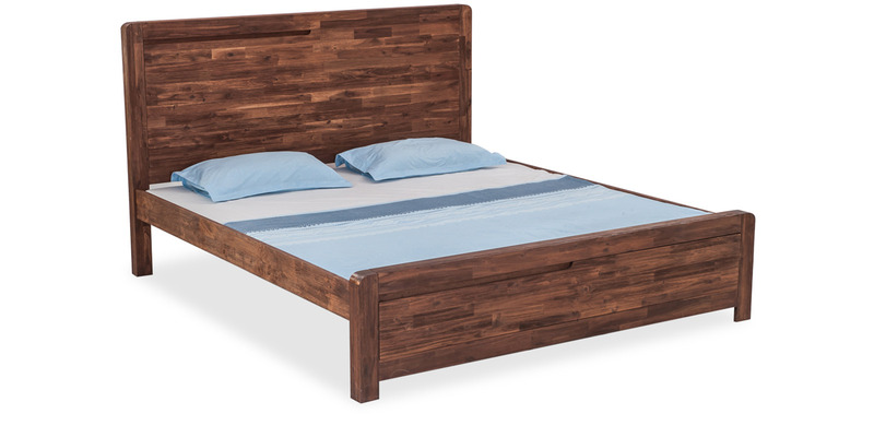 Roman King Size Bed in Walnut Brown Colour by Durian