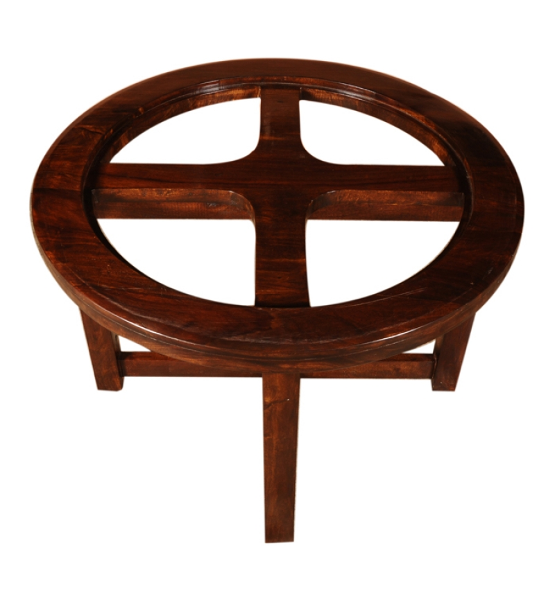 Round Cherry Color Coffee Table By Mudra Online Coffee Centre Tables Furniture Pepperfry