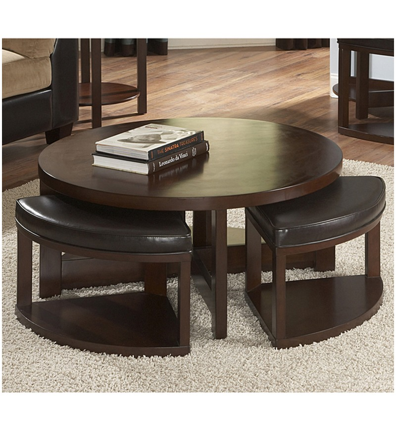Round Table With Stools: Round Coffee Table With Stools By Mudramark Online