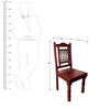 Kirk Dining Chair in Passion Mahogany Finish by Amberville