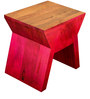 Robyn Stool in Dark Pink Mottling by Inliving