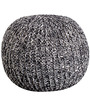 Rocca Cotton Knitted Pouffe in Grey Colour by Purplewood