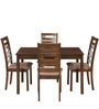 Rocco Four Seater Dining Set in Walnut Finish by Royal Oak