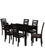 Rocco Six Seater Dining Set in Walnut Finish by Royal Oak