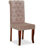 Rochelle Button Chair in Beige Colour by Amberville