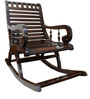 Rocking Chair in Dark Brown Colour by BigSmile