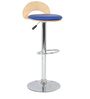 Roll Bar Stool in Blue  by The Furniture Store