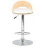 Roll Bar Stool in White by The Furniture Store