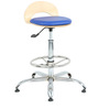 Rolly Bar Stool in Blue  by The Furniture Store