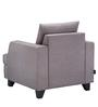 Roman Reverie One Seater Sofa in Fog Grey Colour by Urban Living