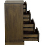 Adriano Chest of Four Drawers in Belgian Oak Finish by CasaCraft