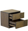 Adriano Bed Side Table in Belgian Oak Finish by CasaCraft