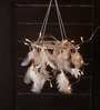 Rooh Multicolour Wool White Light Dream Catcher