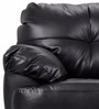 Rosabelle Comfy One Seater Sofa in Black Colour by Furny