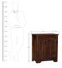 Winona Shoe Rack in Provincial Teak Finish by Woodsworth