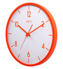 Rosetta Orange Plastic 13 Inch Round Vivid Wall Clock